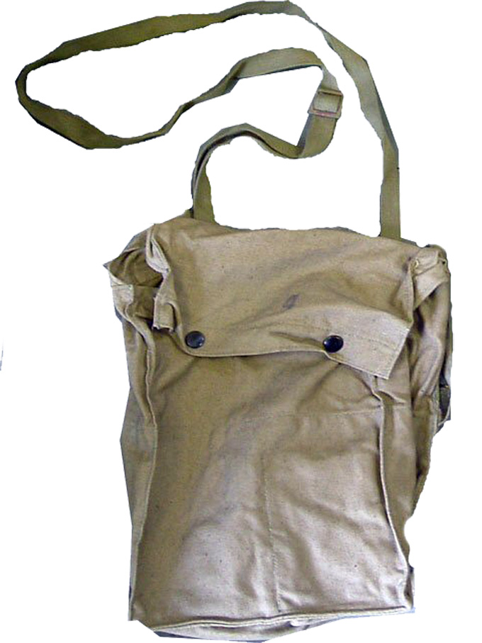 Czech Gas Mask Bag  Shoulder Strap Press Stud Close