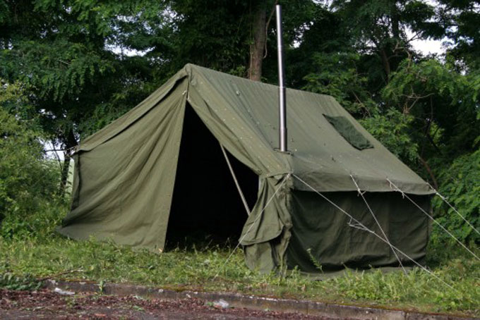 Swedish Army Tent3.65x3.65x3m With Wood Heater Insulation Panels and 3 Windows with Mosquito Netting