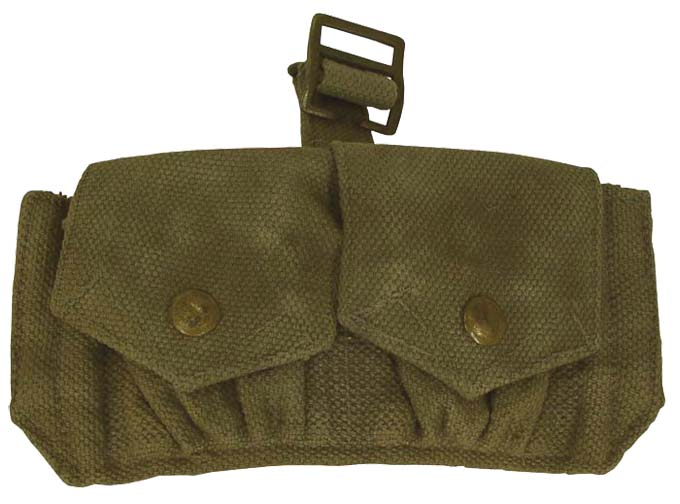 Belgian (like British) Grenade Pouch  Canvas Webbing Clips