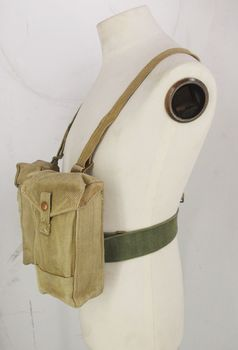 Belgian / British Magazine Pouch   Canvas with Webbing Attachments