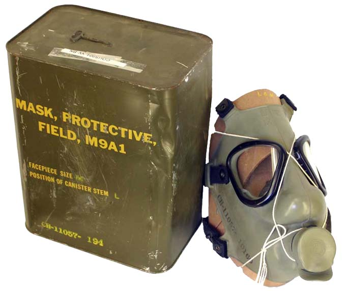 USA MK9 A1 Gas Mask  1950s in sealed tins