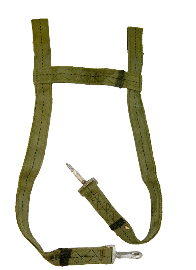French Parachute Harness  Reinforced 40mm H Frame Straps with Heavy Duty Clips