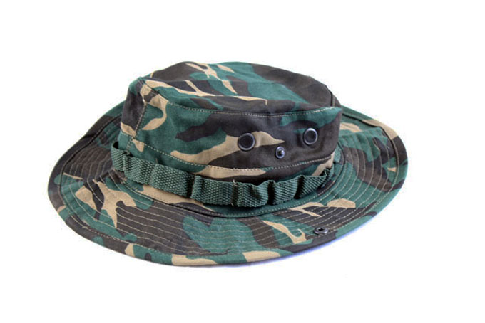 US Style Jungle Boonie Hat  With Ghillie Band Air vents Adjustable Chin Strap