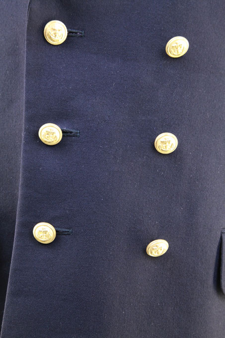 German Wool Naval Blazer  Double Breasted Gold Anchor Buttons