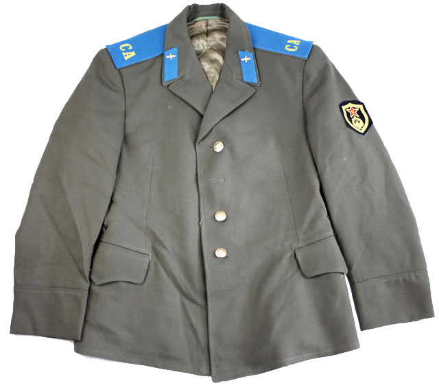 Russian (Badged) Uniform Jacket  Wool Mix with Standard Wing Collar & Gold Coloured Buttons & Waist Pockets