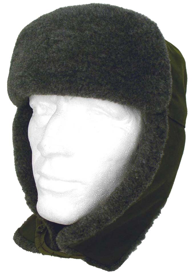 Russian Czech Ushanka Chapka  Winter Hat with Ear Flaps