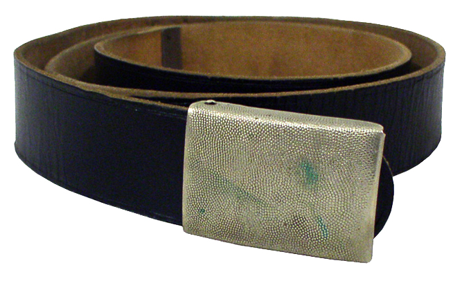 German Leather Belt  1 Width with Metal Closer
