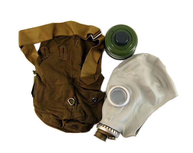 Russian Gas Mask in Bag  Rubber Adult Hood (Condom Style) with Filter