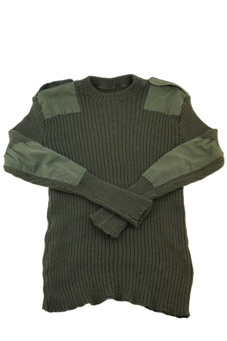 Belgian Army Pullover  Like British Roundneck With Elbow pads