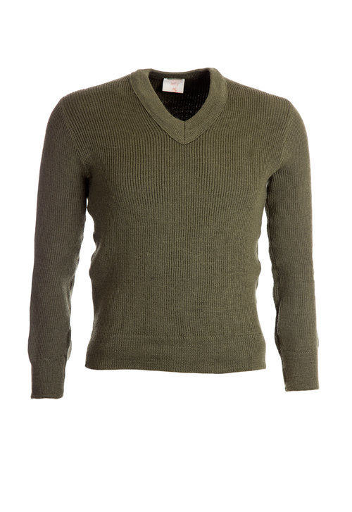 French VNeck PulloverWool Mix