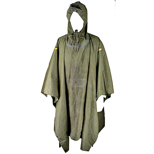 German Poncho  Rubberized with Hood