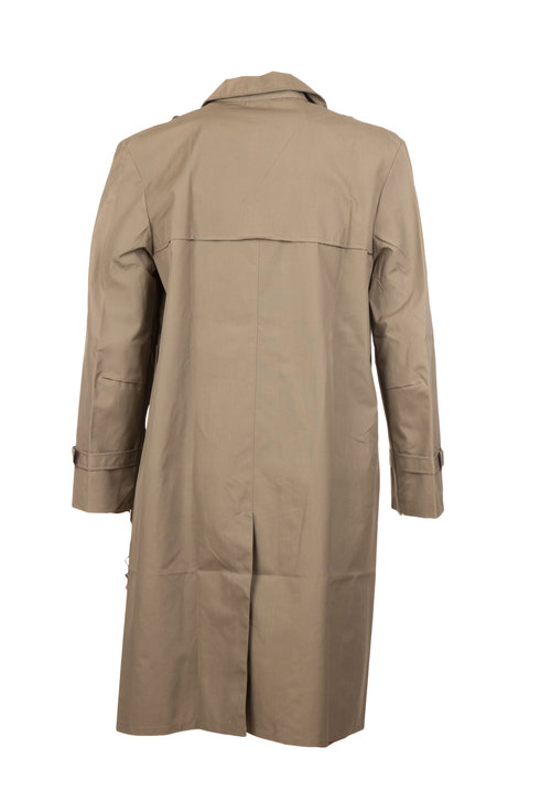 Rubberized Raincoat  Single Breasted with Pockets Adjustable Cuffs