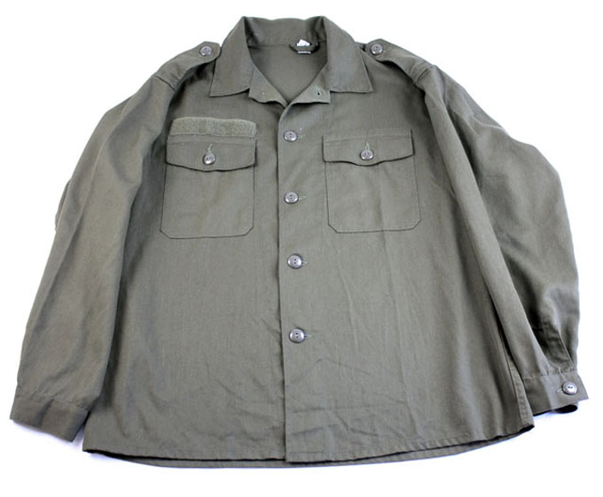 Austrian Field Shirt  Heavy Weight Large Buttons Long Sleeve (Eagle Detail)