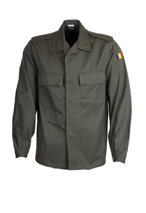 Belgian BDU Type Cotton Shirt  Heavyweight L/S Button Close