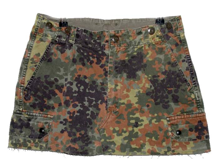 Camo Skirt  Mid thigh length