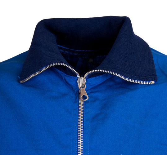 Swedish Retro Zip Top  Lightweight with Elasticated Cuffs & Collar