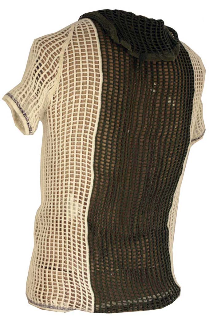 Danish String Vest  1/4 Sleeve with hood