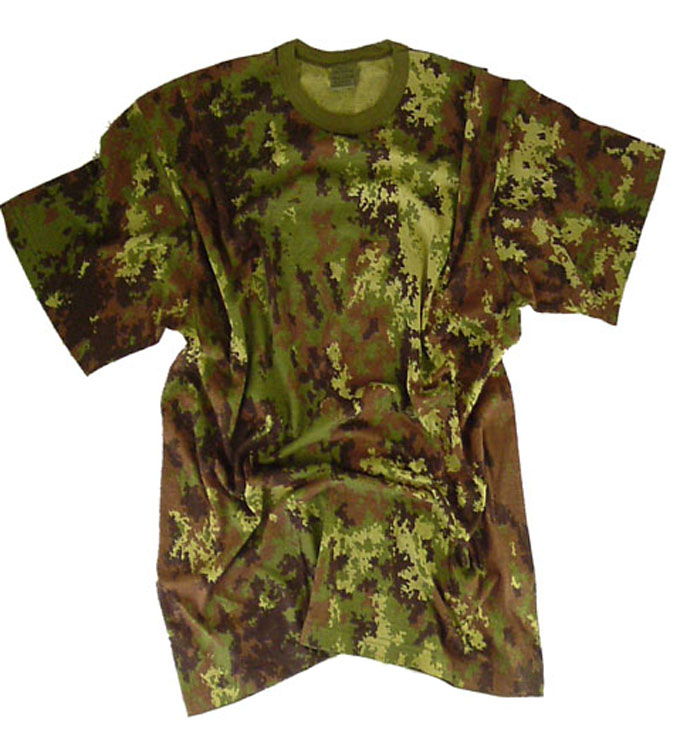 Short Sleeve Military TShirt  Round Neck Tee