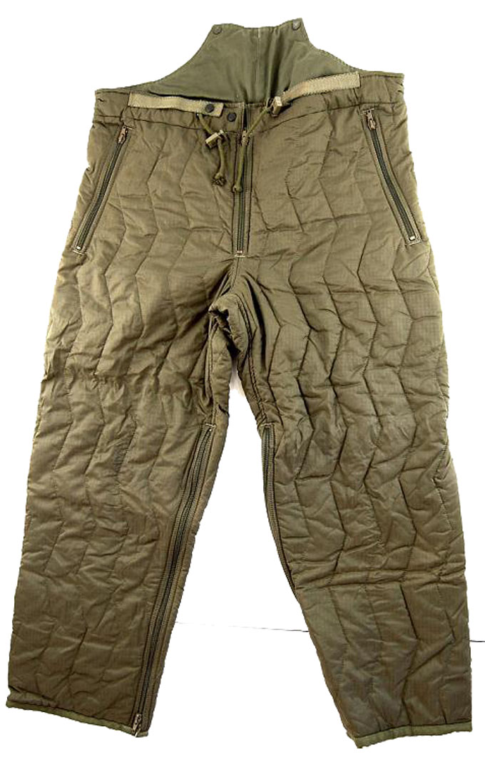 Thermal Trouser Liner  Quilted for Goretex Overtrouser etc