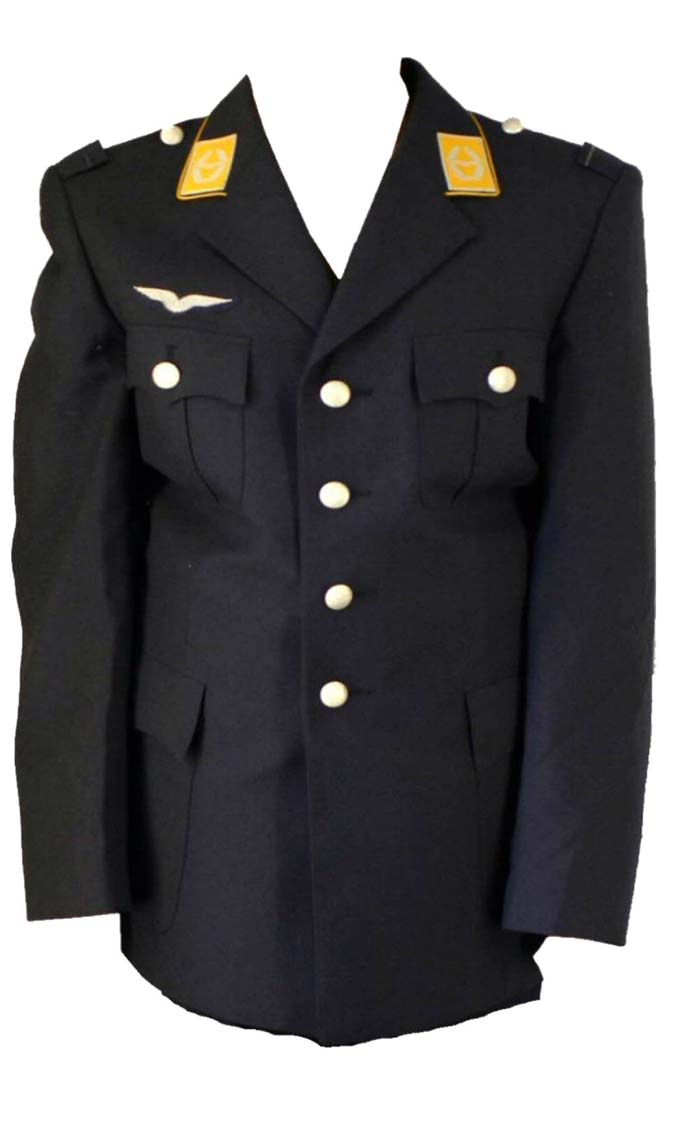 German Airforce Uniform Jacket  Current Luftwaffe Issue Decorated with Badges / Insignia